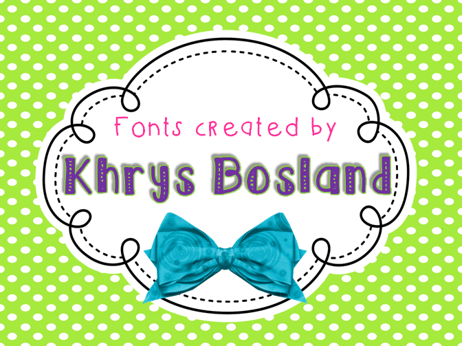 KB You're Just My Type font