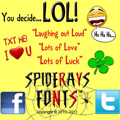 LOL! font