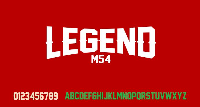 Legend M54 font