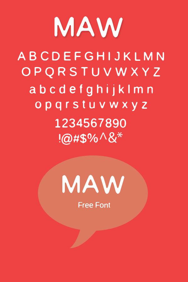 Maw font
