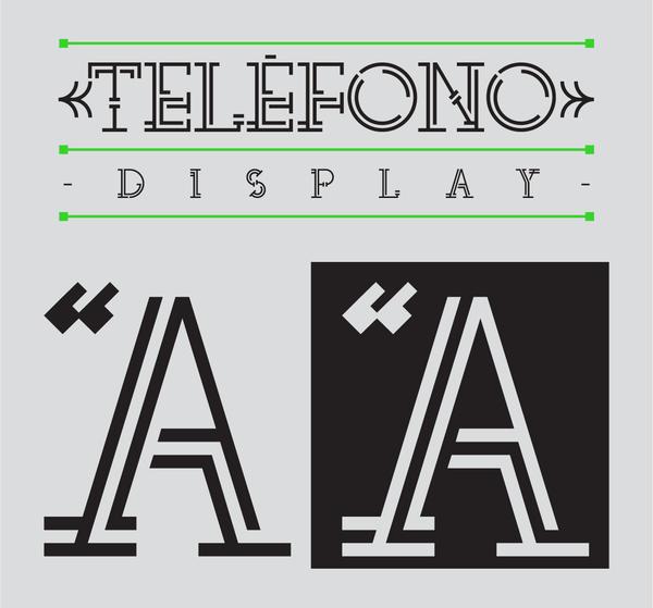 TELÉFONO font