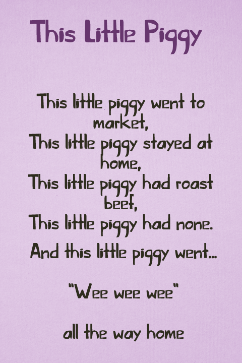 This Little Piggy font
