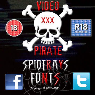 VIDEO PIRATE font