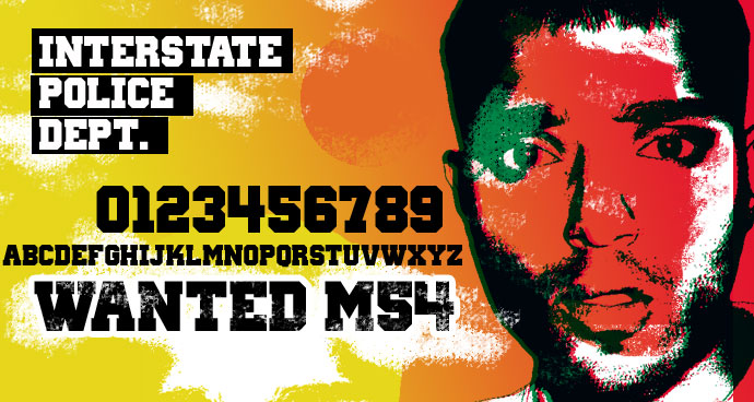 Wanted M54 font