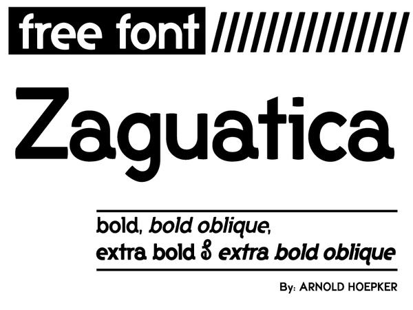 Zaguatica font