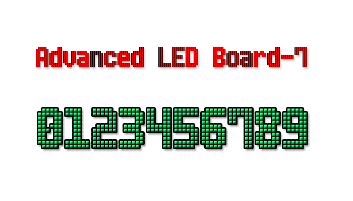 Advanced LED Board-7 font