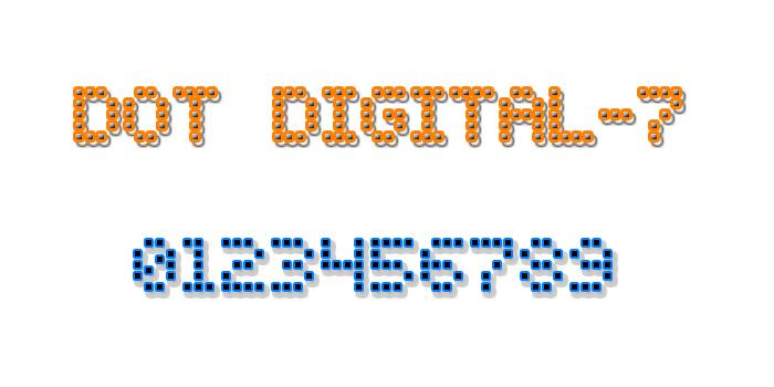 Dot Digital-7 font