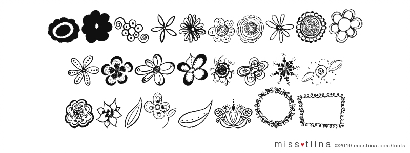 MTF Flower Doodles font