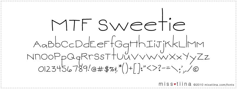 MTF Sweetie font