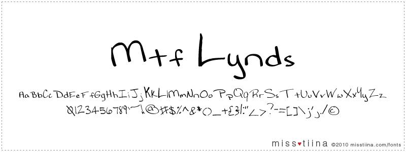 MTF Lynds font