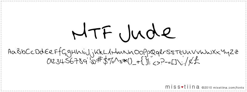 MTF Jude font