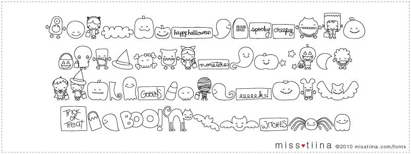 MTF Sweet Halloween Dings font
