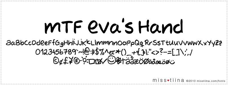 MTF Evas Hand font