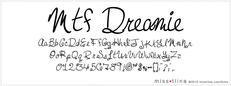 MTF Dreamie font