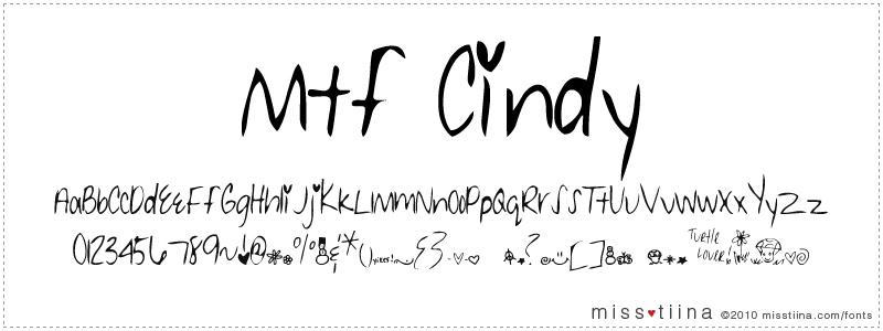 MTF Cindy font
