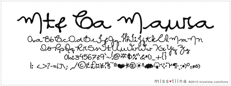 MTF Ca Maura font