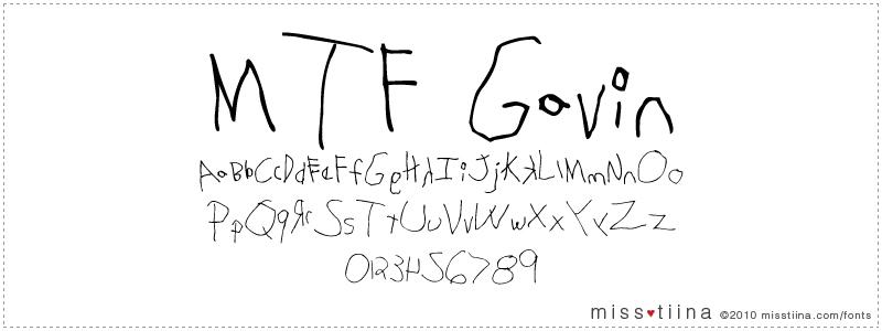 MTF Gavin font