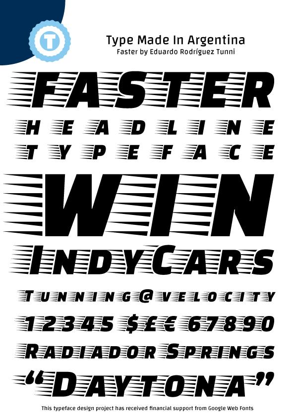 Faster font