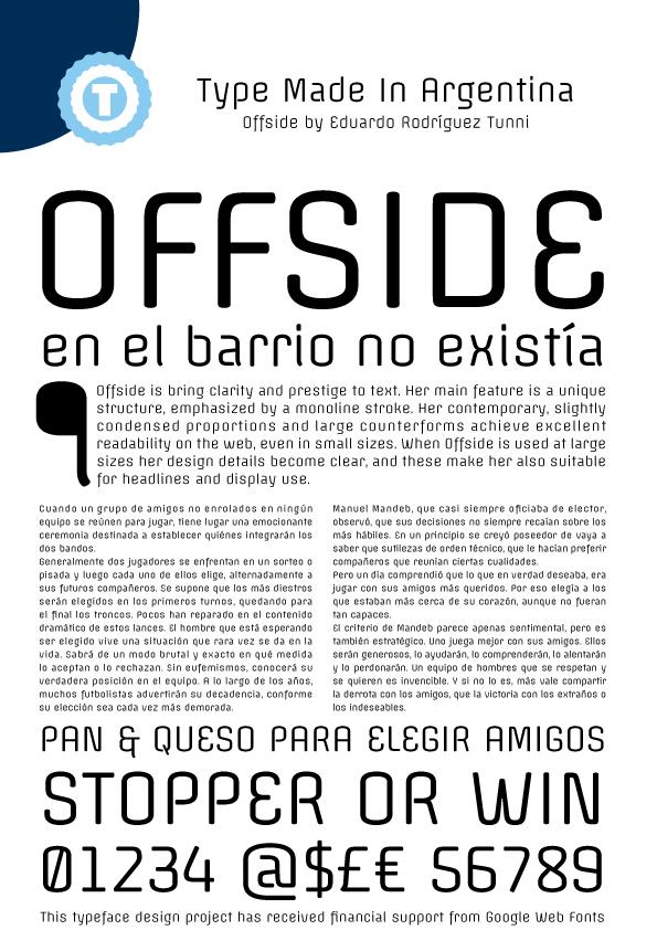 Offside font