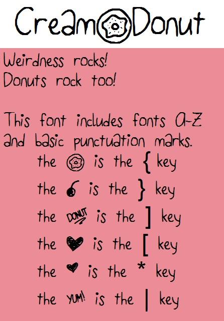 Cream Donut font