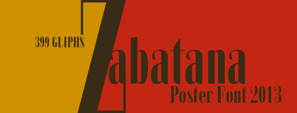 Zabatana Poster font
