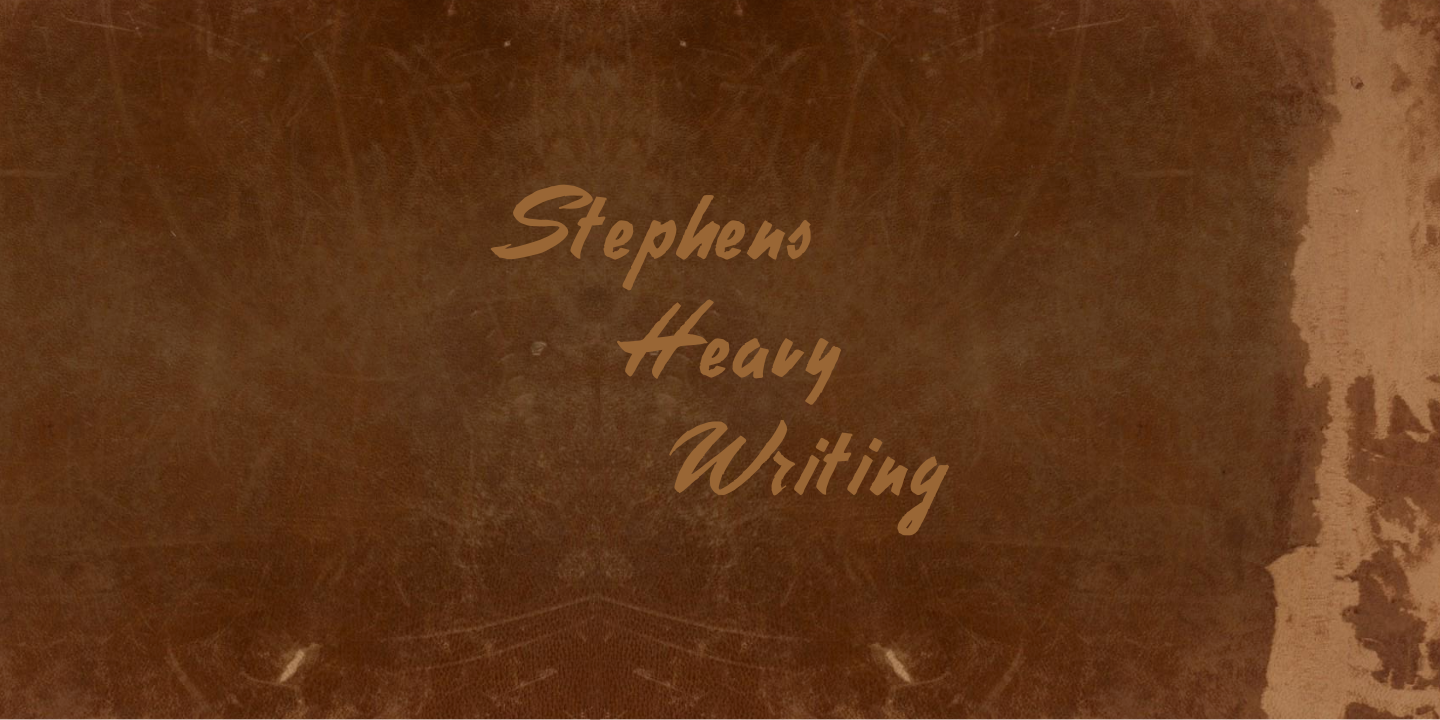 Stephens Heavy Writing font