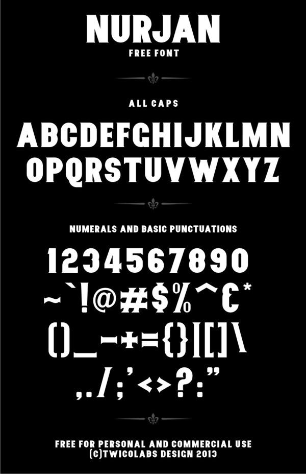 Nurjan font
