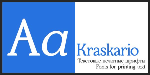 Kraskario font