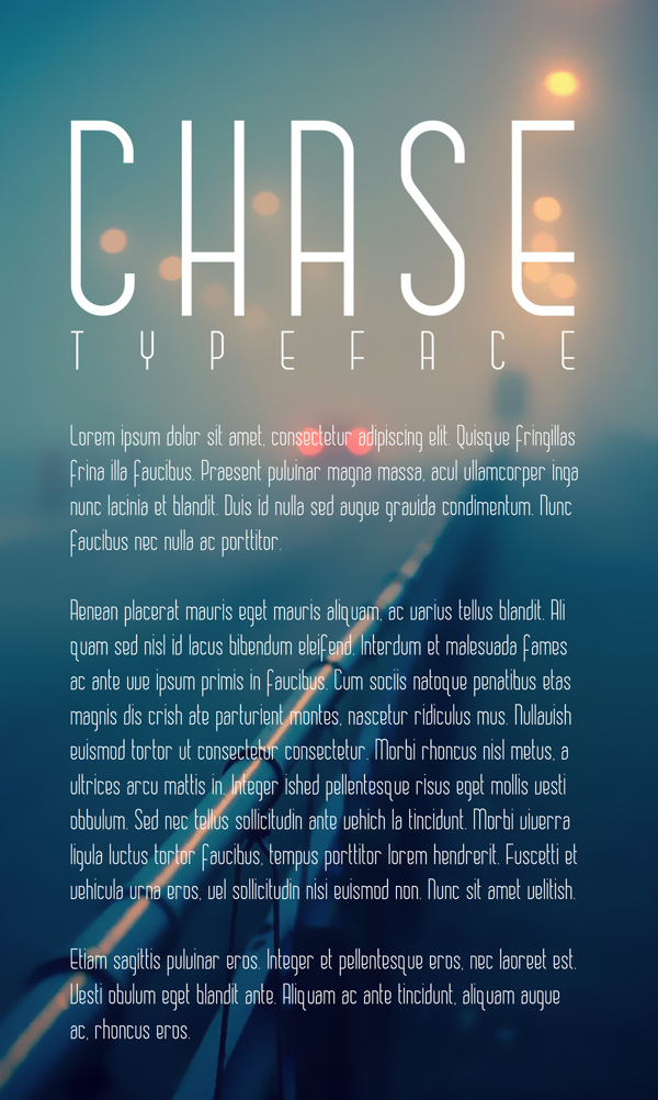 CHASE font