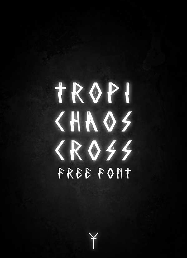 Tropichaos Cross font