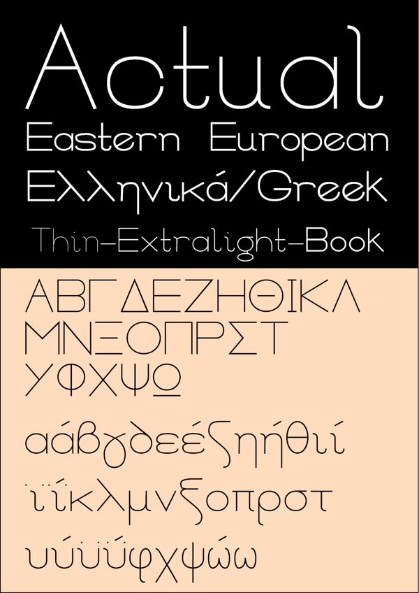 Actual font