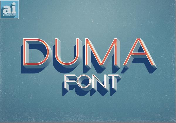 Duma font