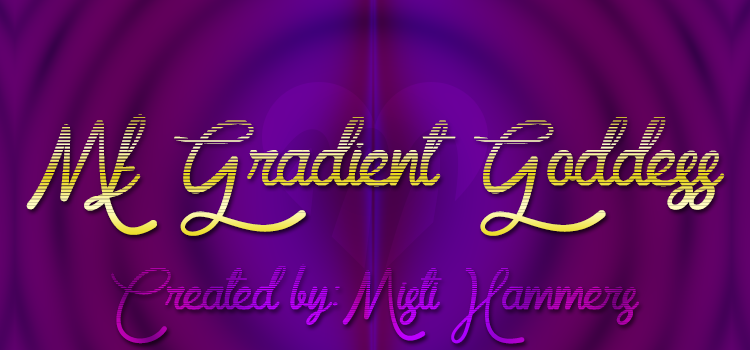 Mf Gradient Goddess font
