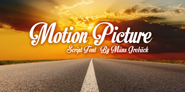 Motion Picture font