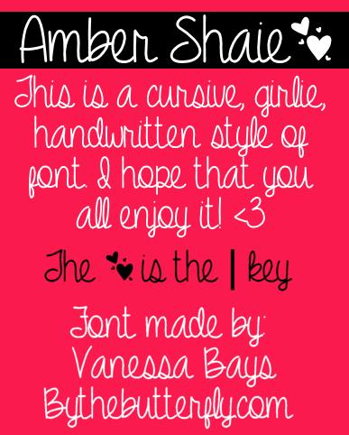 Amber Shaie font