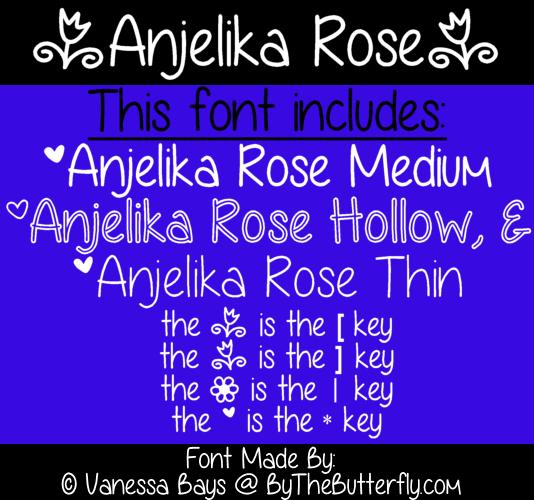 Anjelika Rose font