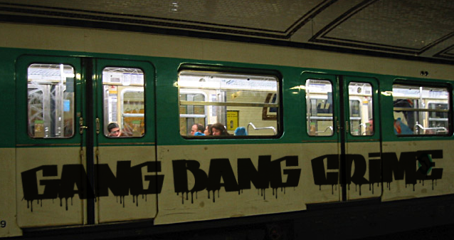 Gang bang crime font