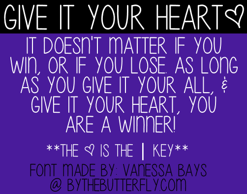 Give It Your Heart font