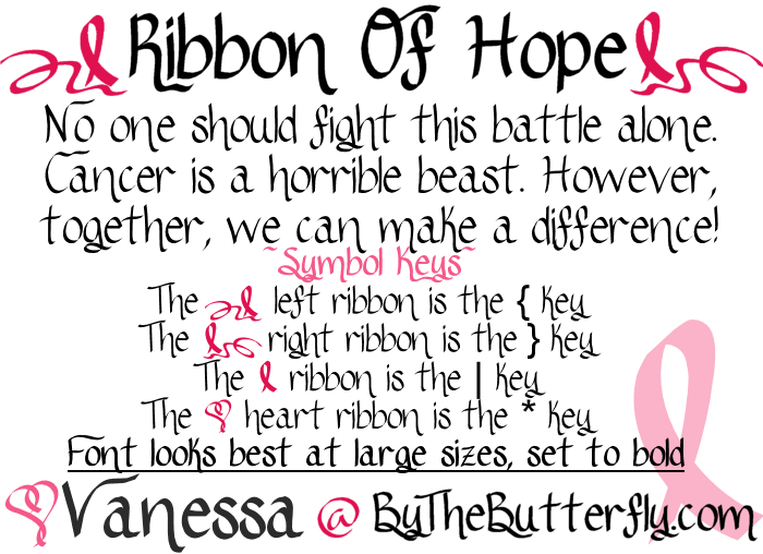 Ribbon Of Hope font