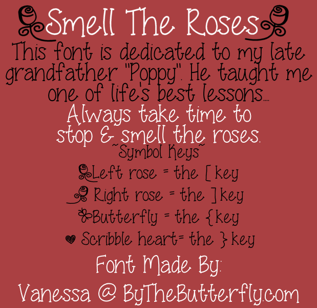 Smell Theroses font
