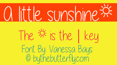 A Little Sunshine font