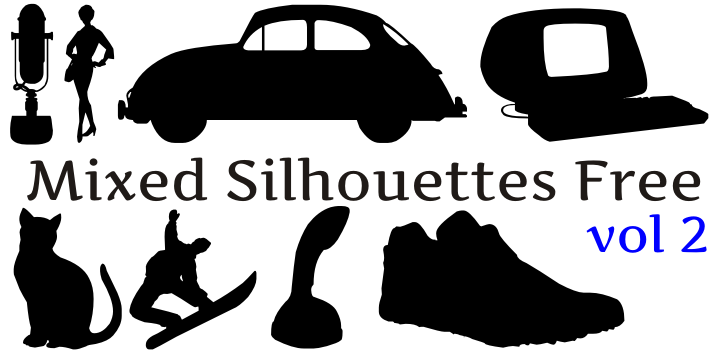 Mixed silhouettes font