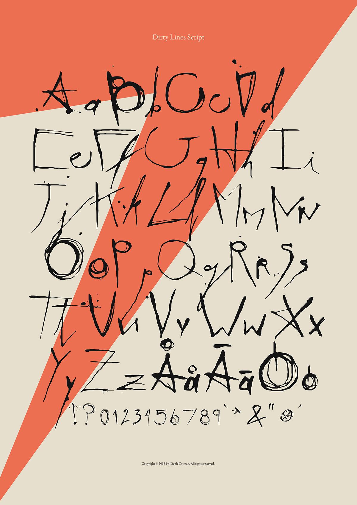 Dirty Lines Script font