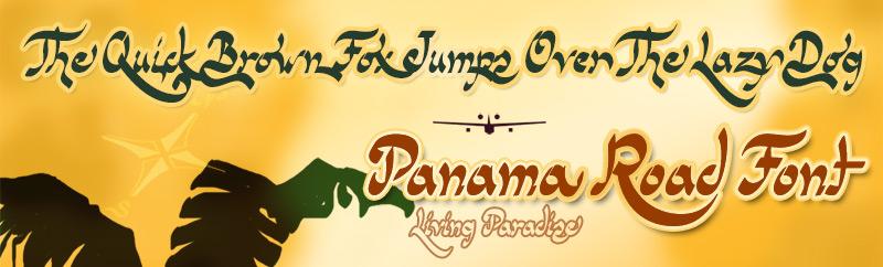 Panama Road font
