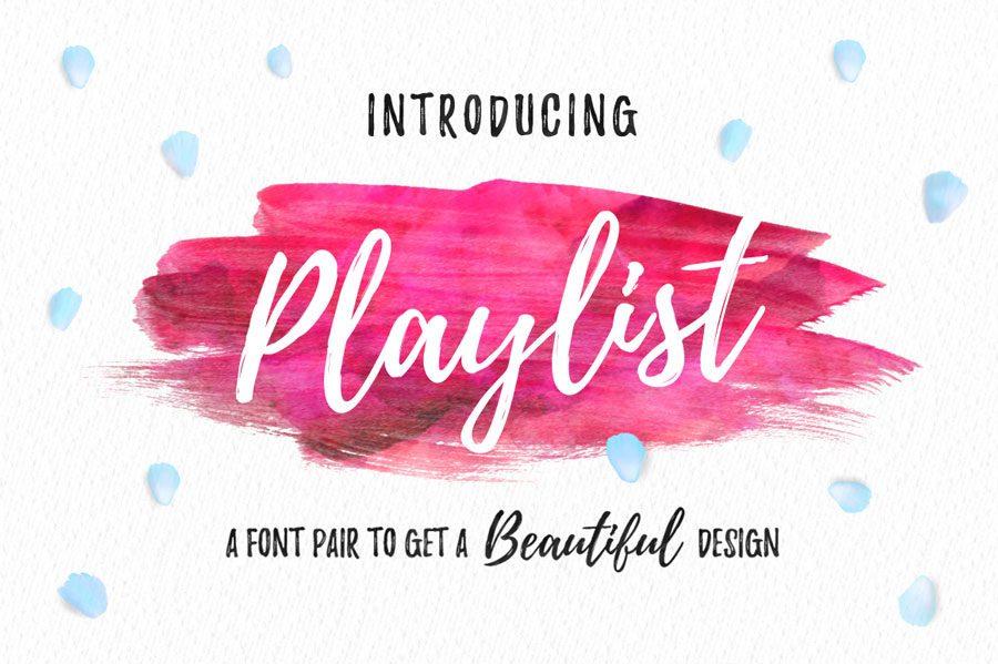 Playlist-Caps font