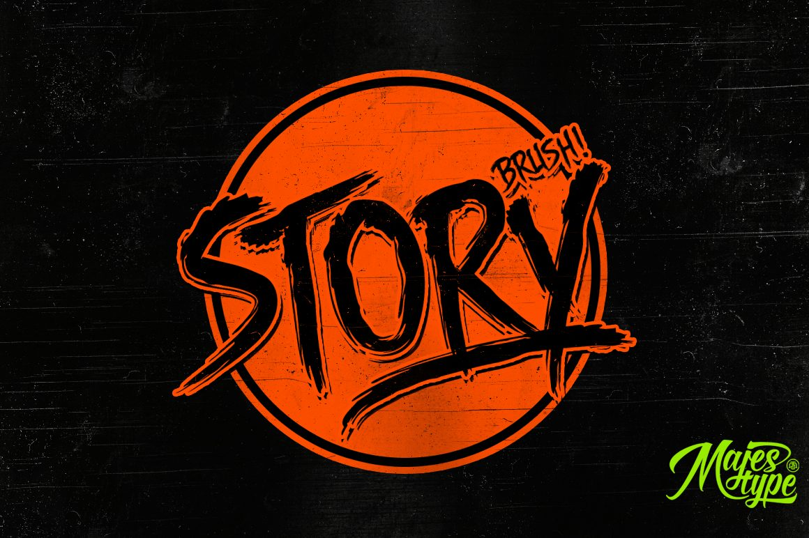 DHF Story Brush Slanted font