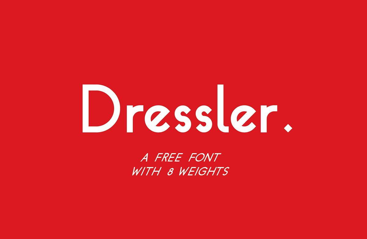 Dressler Bold Italic font