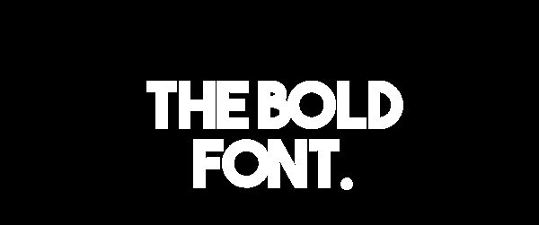 The Bold Font font