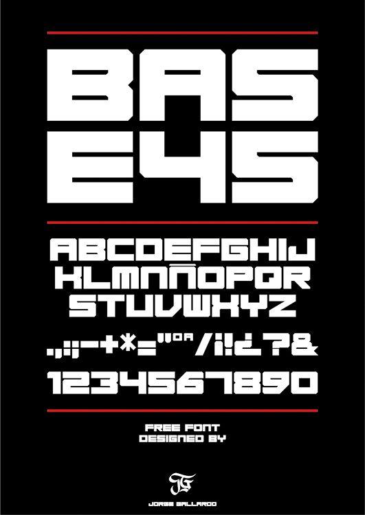 Base45 font