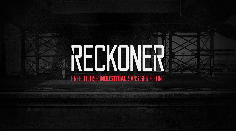 Reckoner Bold font